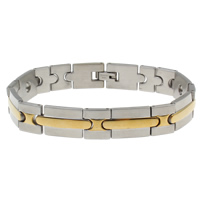 Stainless Steel Bracelet Finding plated two tone 22x12x3mm Inner Diameter:Approx 3mm Sold Per Approx 8.5 Inch Strand