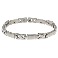 Stainless Steel Bracelet Finding, original color, 17.50x6.50x3mm, Inner Diameter:Approx 2mm, Sold Per Approx 7 Inch Strand