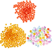 Transparent Acrylic Beads, with Plastic Sequin, Round, more colors for choice, 8mm, Hole:Approx 1mm, Approx 2000PCs/Bag, Sold By Bag