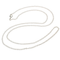 Iron Necklace Chain, plated, twist oval chain, more colors for choice, nickel, lead & cadmium free, 3.20x2.10x0.50mm, Sold Per Approx 29 Inch Strand