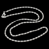 Iron Necklace Chain, silver color plated, valentino chain, nickel, lead & cadmium free, 2mm, Sold Per Approx 17.5 Inch Strand