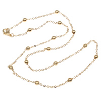 Iron Necklace Chain, KC gold color plated, nickel, lead & cadmium free, 3.5mm, Sold Per Approx 17.5 Inch Strand