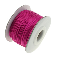 Nylon Cord with plastic spool   Cardboard bright rosy red 55x36mm 0.8mm Hole:Approx 16mm 50m/PC
