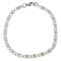 Stainless Steel Jewelry Bracelet, valentino chain, original color, 11x4x2mm, Sold Per Approx 7.5 Inch Strand