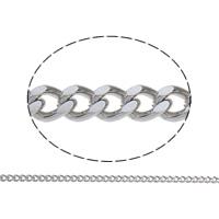 Łańcucha krawężnika ze stali nierdzewnej, Stal nierdzewna, ze Szpulka plastikowa, różnej wielkości do wyboru & łańcucha krawężnika, oryginalny kolor, 50m/szpula, sprzedane przez szpula