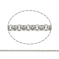Stainless Steel Rolo Chain, with plastic spool, different size for choice, original color, 25m/Spool, Sold By Spool