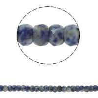 Natural Blue Spot Stone Beads, Rondelle, faceted, 8x5mm, Hole:Approx 1.5mm, Approx 75PCs/Strand, Sold Per Approx 15.7 Inch Strand