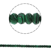Malachite Beads, Rondelle, faceted, 8x5mm, Hole:Approx 1.5mm, Approx 75PCs/Strand, Sold Per Approx 15.7 Inch Strand