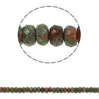 Ruby in Zoisite Beads, Rondelle, faceted, 8x5mm, Hole:Approx 1.5mm, Approx 75PCs/Strand, Sold Per Approx 15.7 Inch Strand