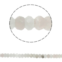 Natural Rose Quartz Beads, Rondelle, faceted, 8x5mm, Hole:Approx 1.5mm, Approx 75PCs/Strand, Sold Per Approx 15.7 Inch Strand