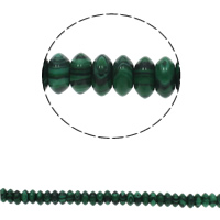 Malachite Beads, Flat Round, 6.5x3mm, Hole:Approx 1.5mm, Approx 134PCs/Strand, Sold Per Approx 15.7 Inch Strand