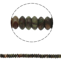 Natural Unakite Beads, Flat Round, 6.5x3mm, Hole:Approx 1.5mm, Approx 134PCs/Strand, Sold Per Approx 15.7 Inch Strand