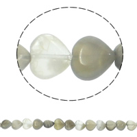 Natural Grey Agate Beads, Heart, 12x5mm, Hole:Approx 1.5mm, Approx 36PCs/Strand, Sold Per Approx 15.7 Inch Strand