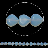 Sea Opal Beads, Heart, 12x5mm, Hole:Approx 1.5mm, Approx 36PCs/Strand, Sold Per Approx 15.7 Inch Strand