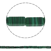 Malachite Beads Rectangle 6x12x4mm Hole:Approx 1.5mm Approx 33PCs/Strand Sold Per Approx 15.7 Inch Strand