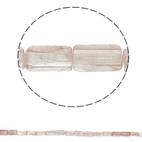 Natural Rose Quartz Beads, Rectangle, 6x12x4mm, Hole:Approx 1.5mm, Approx 33PCs/Strand, Sold Per Approx 15.7 Inch Strand