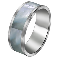 кольцо из ракушки, Нержавеющая сталь 316, с Ракушка, разный размер для выбора, оригинальный цвет, 7mm, 5ПК/Лот, продается Лот