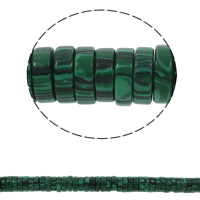 Malakit Bead Heishi syntetisk 15x5mm Hole:Ca. 1.5mm Ca. 77pc'er/Strand Solgt Per Ca. 15.7 inch Strand