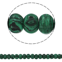 Malachite Beads, Rondelle, 15x10mm, Hole:Approx 1.5mm, Approx 40PCs/Strand, Sold Per Approx 15.7 Inch Strand