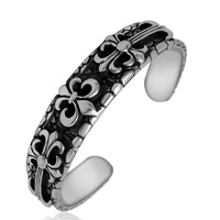 316L Stainless Steel Cuff Bangle blacken 14mm Inner Diameter:Approx 60mm Length:7 Inch 3PCs/Lot