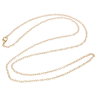 Iron Necklace Chain, plated, oval chain, more colors for choice, nickel, lead & cadmium free, 2x3x0.60mm, Sold Per Approx 28 Inch Strand