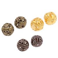 Żelazne koraliki, żelazo, Koło, Powlekane, pusty, dostępnych więcej kolorów, bez zawartości niklu, ołowiu i kadmu, 8mm, otwór:około 1mm, 200komputery/torba, sprzedane przez torba