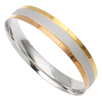 Stainless Steel Bangle, Donut, plated, stardust, multi-colored, 72x12mm, Inner Diameter:Approx 65mm, Length:Approx 8 Inch, Sold By PC