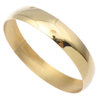 Stainless Steel Bangle, Donut, gold color plated, 73x13mm, Inner Diameter:Approx 69mm, Length:Approx 8.5 Inch, Sold By PC