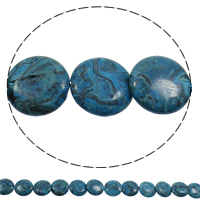 Natural Sodalite Beads, Flat Round, blue, 16x4mm, Hole:Approx 1mm, Length:Approx 15 Inch, 5Strands/Bag, Approx 26PCs/Strand, Sold By Bag