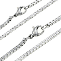 Stainless Steel Chain Necklace plated box chain Sold Per Approx 17.5 Inch Strand