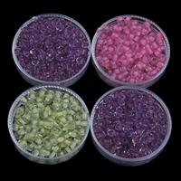 Szklane koraliki z kolorowa linią, Koraliki szklane, Koło, Pokryte kolorem, dostępnych więcej kolorów, 3x3.6mm, otwór:około 1.5mm, około 1110komputery/torba, sprzedane przez torba