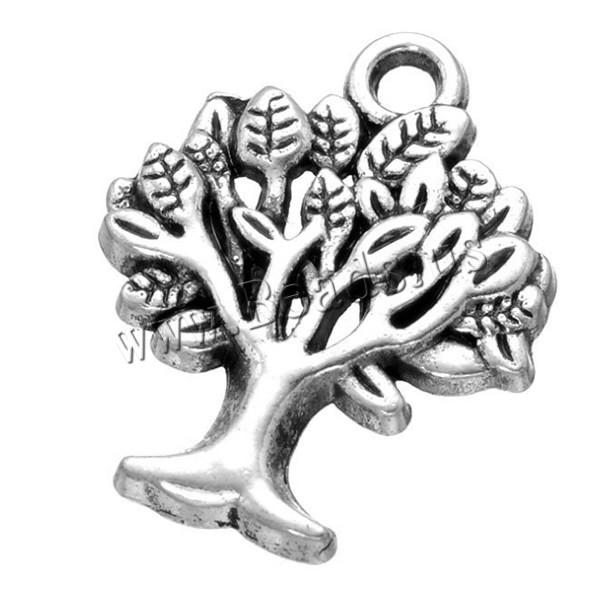 Buy Tree Life Pendants Zinc Alloy antique silver color plated nickel lead & cadmium free 18x22mm Hole:Approx 2.1mm 10 Sold Lot