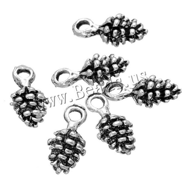 Buy Zinc Alloy Fruit Shape Pendants Pinecone antique silver color plated nickel lead & cadmium free 7x14mm Hole:Approx 2mm 20 Sold Lot