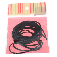 Velveteen Cord, with OPP Bag, black, 3x1mm, 4Yards/Bag, Sold By Bag