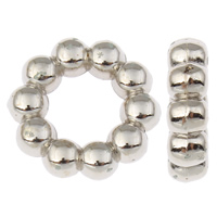 Copper Coated Plastic Linking Ring Donut platinum color plated lead   cadmium free 15x4mm Hole:Approx 7.5mm 100PCs/Bag