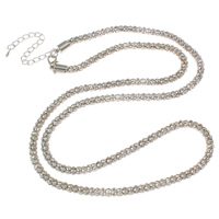 Iron Necklace Chain, with 8cm extender chain, platinum color plated, lantern chain, nickel, lead & cadmium free, 5mm, Length:Approx 29 Inch, 10Strands/Bag, Sold By Bag
