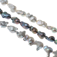 Freshwater Cultured Nucleated Pearl Beads, Cultured Freshwater Nucleated Pearl, Keishi, more colors for choice, 18-20mm, Hole:Approx 0.8mm, Sold Per Approx 15.3 Inch Strand