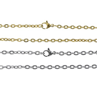 Stainless Steel Chain Necklace plated oval chain