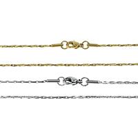 Stal nierdzewna Nekclace Chain, Powlekane, Boston łańcucha, dostępnych więcej kolorów, 1.50x1.50mm, długość:około 19 cal, 20nici/wiele, sprzedane przez wiele