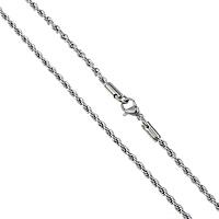 Stal nierdzewna Nekclace Chain, lina łańcucha, oryginalny kolor, 2.50mm, długość:około 20 cal, 50nici/wiele, sprzedane przez wiele