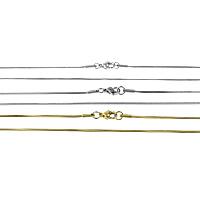 Stal nierdzewna Nekclace Chain, Powlekane, różnej wielkości do wyboru & wąż łańcucha, dostępnych więcej kolorów, 20nici/wiele, sprzedane przez wiele