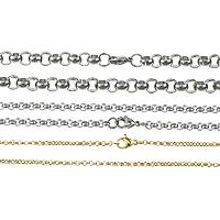 Stal nierdzewna Nekclace Chain, Powlekane, różnej wielkości do wyboru & Rolo łańcucha, dostępnych więcej kolorów, sprzedane przez wiele