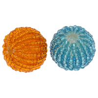 Woven Beads, Glass Seed Beads, with Acrylic, Round, handmade, more colors for choice, 20mm, Hole:Approx 3mm, 100PCs/Bag, Sold By Bag