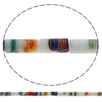 Стеклянные бусины, выполненные в технике миллефиори, Миллефиори, Трубка, Связанный вручную, разный размер для выбора, отверстие:Приблизительно 1mm, длина:Приблизительно 14.5 дюймовый, продается сумка
