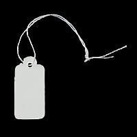 Sieraden Prijskaartjes, Papier, met Katoen, Rechthoek, 16x26x0.20mm, 500pC's/Bag, Verkocht door Bag