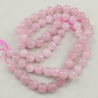 Natural Rose Quartz Beads, Round, different grades for choice, 12mm, Hole:Approx 1mm, Approx 38PCs/Strand, Sold Per Approx 15.5 Inch Strand