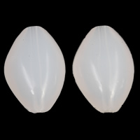 Jelly Style Acrylic Beads, Oval, white, 22x33x12mm, Hole:Approx 3mm, 2Bags/Lot, Approx 105PCs/Bag, Sold By Lot