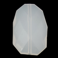 Jelly Style Acrylic Beads, Nuggets, faceted, white, 26x41x10mm, Hole:Approx 2mm, 2Bags/Lot, Approx 65PCs/Bag, Sold By Lot