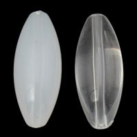 Transparent Acrylic Beads, Oval, different styles for choice, 14x36mm, Hole:Approx 1mm, 2Bags/Lot, Approx 115PCs/Bag, Sold By Lot