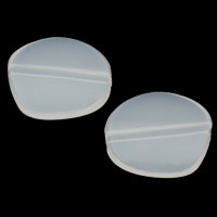 Jelly Style Acrylic Beads, Nuggets, white, 18x16x4mm, Hole:Approx 1mm, 2Bags/Lot, Approx 625PCs/Bag, Sold By Lot